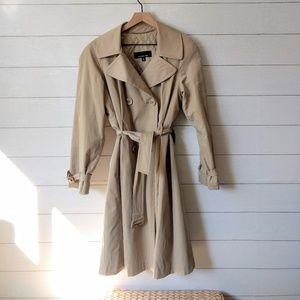 Jones New York Khaki Trench Coat Medium Lined